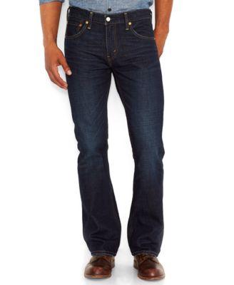 Levi's 527 slim fit bootcut jeans indigo black