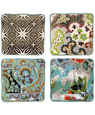 Tracy Porter Rose Boheme Set of 4 Canape Plates