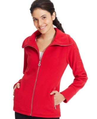 Calvin Klein Performance Logo Zip-Up Hoodie - Tops - Women - Macy's