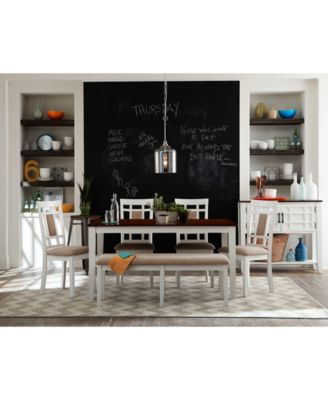 Delran White 6-Piece Dining Room Furniture Set - Furniture - Macy\'s