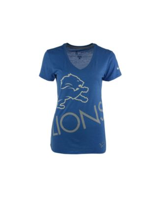 Women's Detroit Lions 5th & Ocean by New Era Blue Team Color Camo T-Shirt