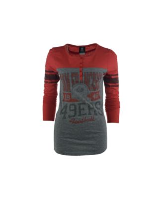 Women's San Francisco 49ers 5th & Ocean by New Era Scarlet Athletic Fleece Sweater