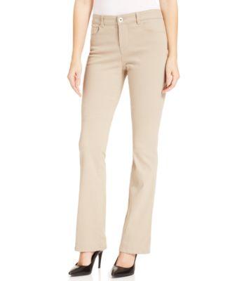 Style&co. Petite Bootcut Jeans, Dark Beige Wash - Jeans - Women ...