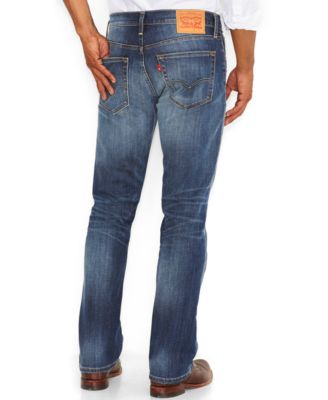 Levi's Men's 527 Slim-Fit Bootcut Jeans, Wave Allusions - Jeans ...