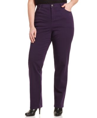 Style&co. Plus Size Slim-Leg Jeans, Dusty Rouge Wash - Jeans ...