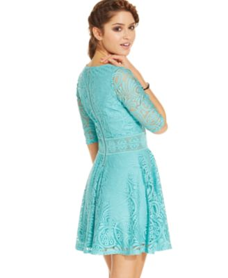 American Rag Lace Skater Dress, Only at Macy\'s - Dresses - Juniors ...