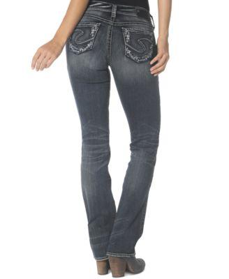 Silver Jeans Juniors' Suki Mid Slim Bootcut Jeans - Jeans ...