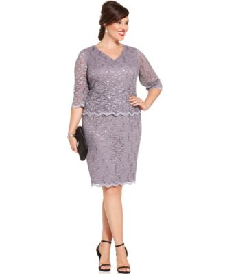 Alex Dresses,Alex Evenings Lace Sheath Dress,