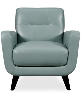 Chiara Leather Chair Furniture Macy S