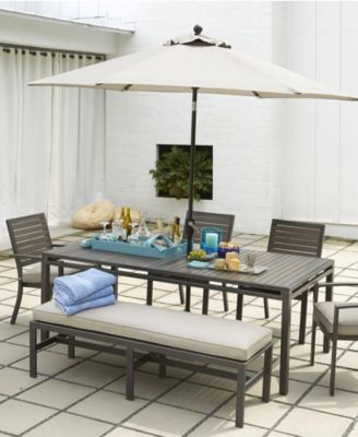 Marlough Outdoor Dining Table Furniture Macys - Macy outdoor furniture
