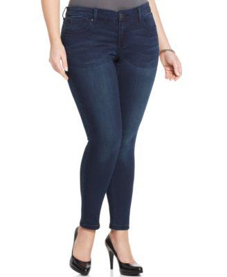 Seven7 Jeans Plus Size Jeggings, Black Rinse Wash - Jeans - Plus ...
