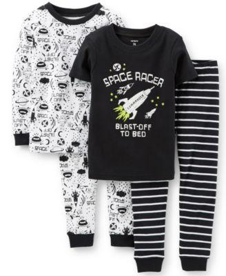 Carter's Little Boys' 4-Piece Space Pajamas - Kids - Macy's