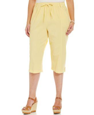Karen Scott Plus Size Cargo Capri Pants - Pants & Capris - Plus ...