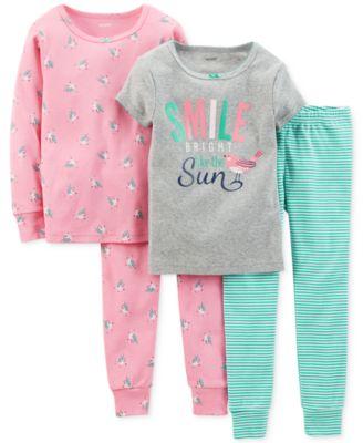 Carter's Toddler Girls' 2-Piece Mermaid Pajamas - Kids - Macy's