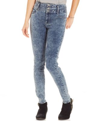 High waisted skinny jeans for juniors