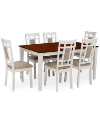 Delran White 7 Piece Set Dining Room Furniture