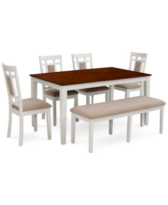 Delran White 6 Piece Dining Room Furniture Set