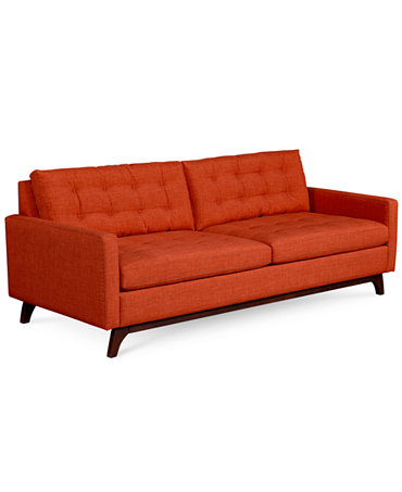 Karlie fabric sofa furniture macy39s for Macy s orange sectional sofa