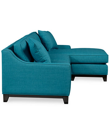 Keegan Fabric 2 Piece Sectional Sofa Furniture Macy S