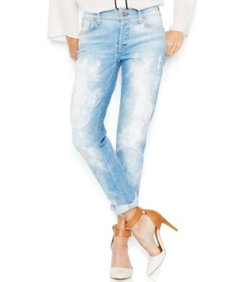 7 For All Mankind Destroyed Boyfriend Jeans, Light Sky Blue Wash ...