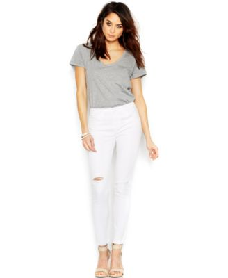 Joe's Finn Spotless Skinny Ankle Jeans, Optic White Wash - Jeans ...