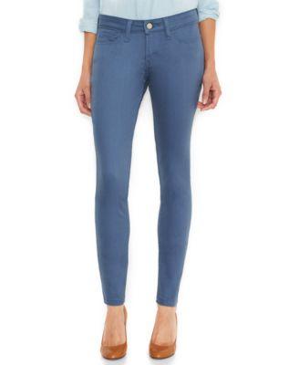 Levi's juniors jeans 535 denim leggings dark wash