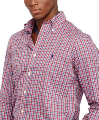 Polo Ralph Lauren Plaid Oxford Shirt - Casual Button-Down Shirts ...
