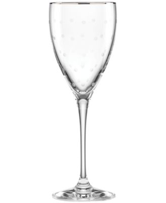 kate spade new york Larabee Dot Platinum Wine Glass