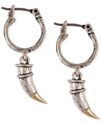 Lucky brand two tone horn drop earrings jewelry for Macy s lucky brand jewelry