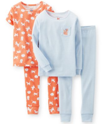 Carter's Baby Girls' 4-Piece Cat Pajamas - Kids - Macy's