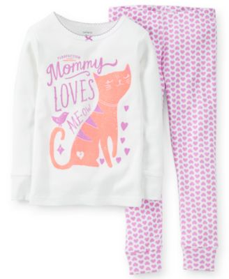 Carter's Baby Girls' 2-Piece Cat Pajamas Set - Kids - Macy's