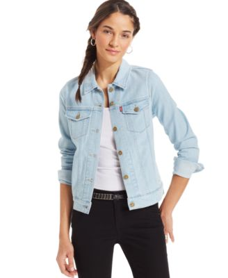 Womens Light Wash Denim Jacket