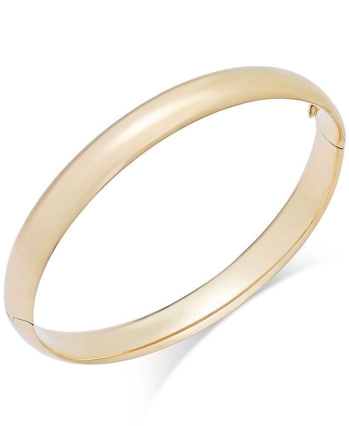 Italian Gold - High Polish Bangle Bracelet in 14k Gold
