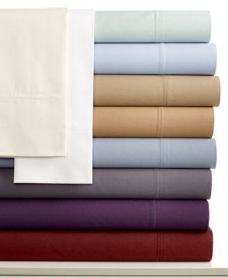 Calvin Klein Florence Stitch 500 Thread Count Pima Cotton Queen Fitted Sheet