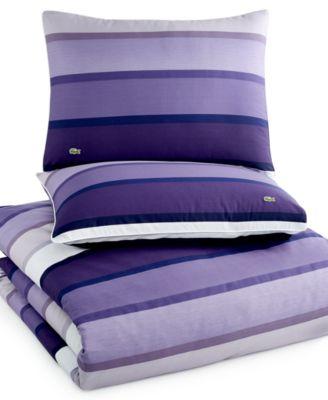 lacoste home curling purple full/queen comforter set - bedding