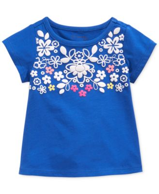 First Impressions Baby Girls' Folk Art Tee