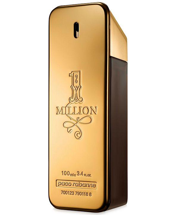 Paco Rabanne Men's 1 Million Eau de Toilette Spray, 3.4 oz.