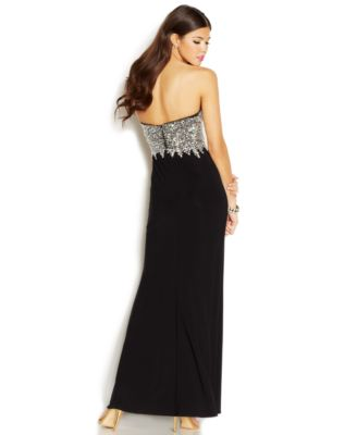 Ruby Rox Juniors' Beaded Strapless Gown - Dresses - Juniors - Macy's