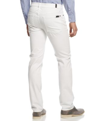 7 For All Mankind Slimmy Slim Straight-Leg Jeans, White - Jeans ...