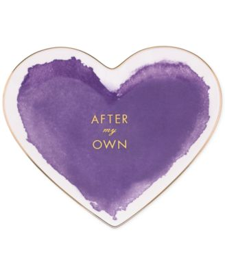 kate spade new york Posy Court Purple Heart Dish