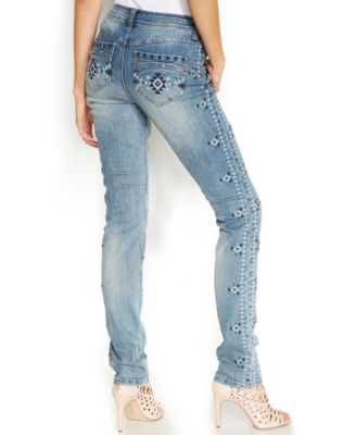 INC International Concepts Embroidered Studded Skinny Jeans ...