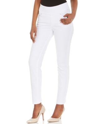 JAG Amelia Ankle Skinny Pull-On Jeans, White Wash - Jeans - Women ...