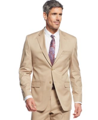 Lauren Ralph Lauren Tan Cotton Suit - Suits & Suit Separates - Men