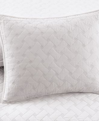 Martha Stewart Collection White Basket Stitch Standard Sham