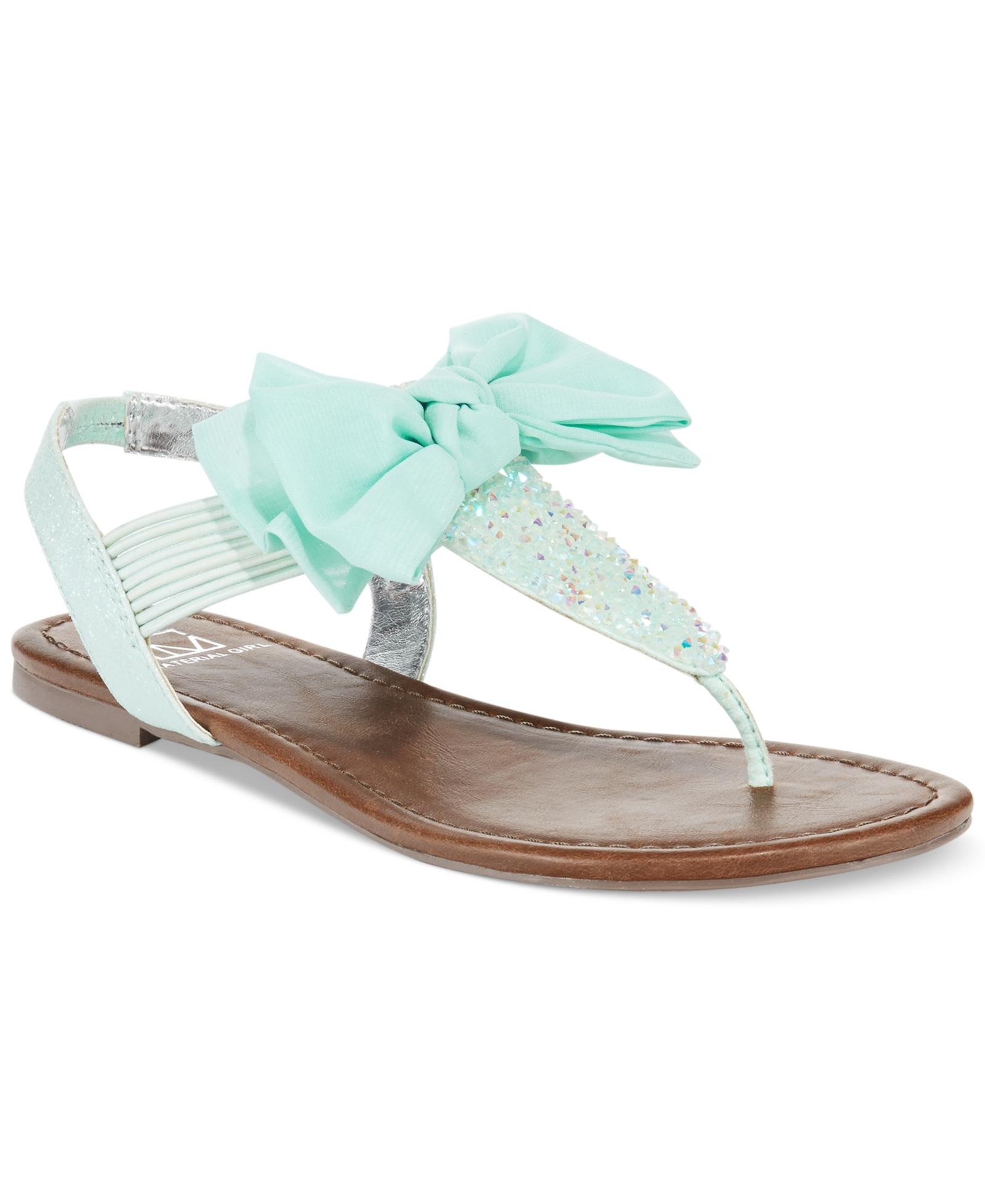 2dd9bb31b858 Material Girl Swan Flat Thong Sandals Women s Shoes