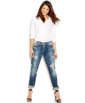 7 For All Mankind Distressed 1984 Boyfriend Jeans, Destroyed Deep ...
