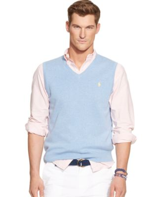 Polo Ralph Lauren Pima V-Neck Vest - Sweaters - Men - Macy's