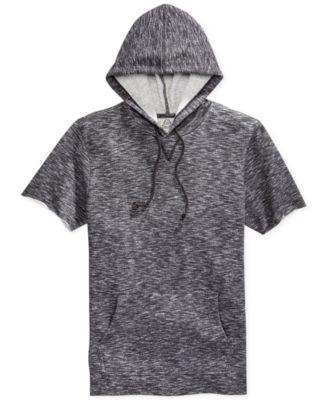 American Rag Marled Short-Sleeve Hoodie - Hoodies & Sweatshirts ...