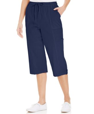 Karen Scott Petite Pull-On Capri Pants - Pants - Women - Macy's