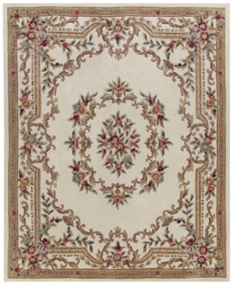 Elegant Kenneth Mink Dynasty Aubusson Cream 5u0027 X 8u0027 Area Rug